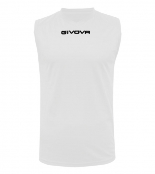 Shirt Smanicato Givova One Vari Colori Stampa Uomo Tinta Unita Sport GIOSAL-Bianco-S