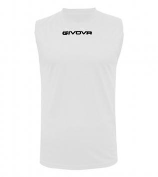 New Shirt Smanicato Givova One Uomo Stampa Tinta Unita Sport GIOSAL-Bianco-S