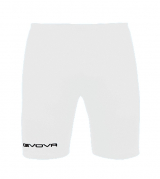 Bermuda Skin GIVOVA Pantaloni Uomo Corti Training Sport Relax GIOSAL-Bianco-XS