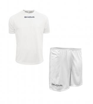 Outfit Givova Completo Pantaloncini T-Shirt Givova One Bianco Unisex Uomo Donna Bambino GIOSAL-Bianco-4XS
