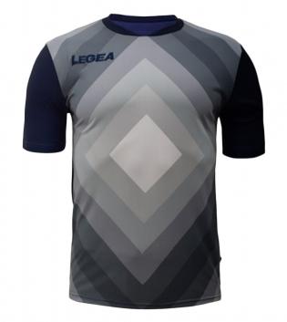 Maglia Calcio Sport LEGEA Norimberga Manica Corta Abbigliamento Sportivo GIOSAL-Blu-Argento-S