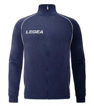 Felpa Uomo LEGEA Florida Light Zip Abbigliamento Uomo Bambino Sportivo Sport GIOSAL-Blu-Bianco-2XS