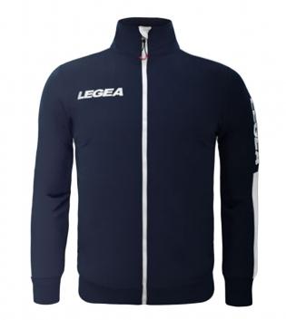 Felpa Uomo California Full Zip Abbigliamento LEGEA Sportivo Uomo Bambino GIOSAL-Blu-Bianco-3XS