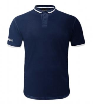 Maglietta Polo Dacca LEGEA Abbigliamento Sportivo Uomo Bambino GIOSAL-Blu-Bianco-3XS