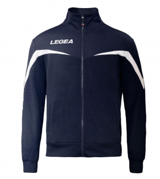 Felpa Uomo Giacca Legea Sportiva Mosca F35 Full Zip Sport Uomo Bambino GIOSAL-Blu-Bianco-3XS