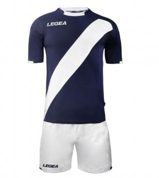 Kit Completo Calcio Uomo LEGEA Lima Abbigliamento Sportivo Sport GIOSAL-Blu-Bianco-S