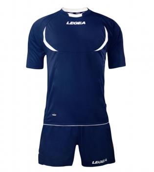 Kit LEGEA Calcio Stoccolma Completo Sportivo Sport Abbigliamento GIOSAL-Blu-Bianco-XS