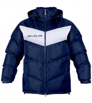 Giubbotto GIVOVA Podio Trapuntato Uomo Donna Bambino Cappuccio Removibile Sport GIOSAL-Blu/Bianco-2XS