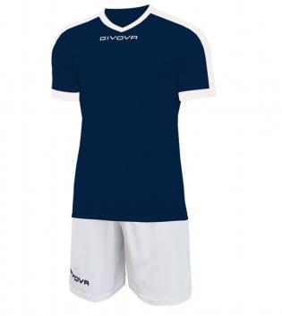 Kit Revolution Calcio Sport GIVOVA Abbigliamento Sportivo Uomo Calcistico GIOSAL-Blu/Bianco-3XS