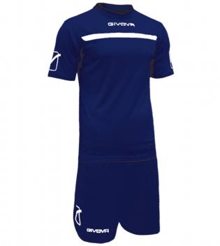 Kit One Calcio GIVOVA Uomo Sport Uomo Bambino Abbigliamento Sportivo Calcistico GIOSAL-Blu/Bianco-3XS