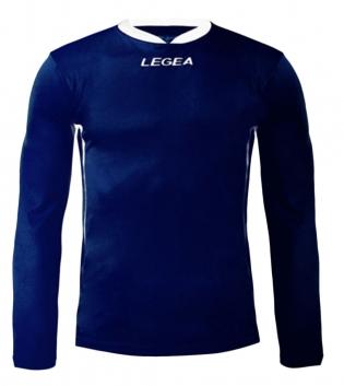 Maglia Uomo Calcio Sport LEGEA Dusseldorf Manica Lunga BOX 10 PEZZI Uomo Bambino GIOSAL-Blu-Bianco-3XS