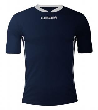 Maglia Uomo Calcio LEGEA Dusseldorf Manica Corta BOX 10 PEZZI Uomo Bambino GIOSAL-Blu-Bianco-3XS
