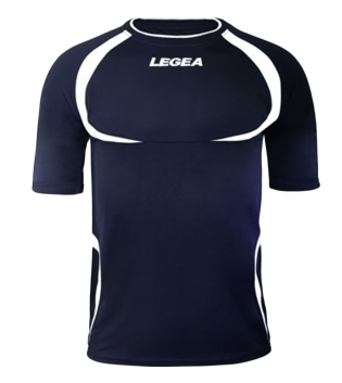 Maglia Uomo Calcio Sport LEGEA Taipei Abbigliamento Uomo Bambino Sportivo Calcistico GIOSAL-Blu-Bianco-3XS