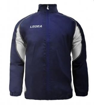 Giubbotto Giacca Jacket Rain Storm Anti Pioggia LEGEA Uomo Bambino Sport Sportivo GIOSAL-Blu-Bianco-XS