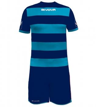 Kit Rugby Calcio Sport GIVOVA Abbigliamento Sportivo Uomo Calcistico GIOSAL-Blu-Celeste-L