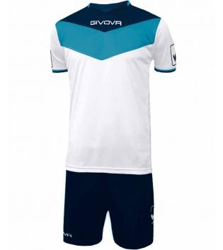 Kit Calcio GIVOVA Campo Completino Football Sport Sportivo Uomo Bambino GIOSAL-Blu-Celeste-4XS