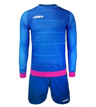 Kit Calcio Sport LEGEA Portiere Calderon Sportivo Abbigliamento Calcetto GIOSAL-BluChiaro-FuxiaFluo-3XS