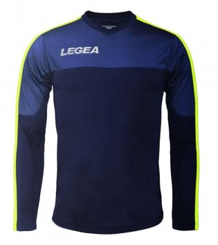 Maglia Uomo Calcio Sport Atene Legea Abbigliamento Sportivo Uomo Bambino GIOSAL-Blu-GialloFluo-2XS