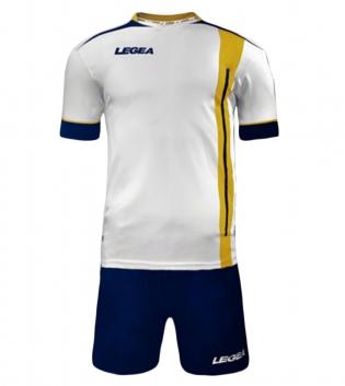 Kit Calcio Sport LEGEA Dublino Completo Calcetto Squadra GIOSAL-Blu-Giallo-S