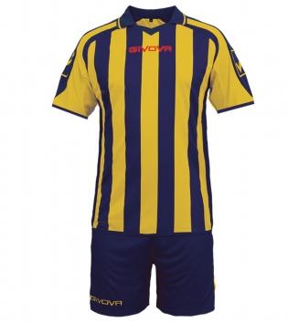 Kit Supporter Calcio Sport GIVOVA Abbigliamento Sportivo Uomo Calcistico GIOSAL-Blu/Giallo-M