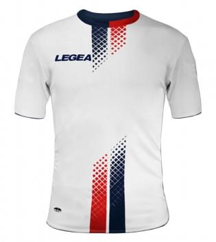 Maglia Uomo Calcio Sport LEGEA Leira Abbigliamento Sportivo Uomo Bambino GIOSAL-Blu-Rosso-S