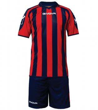 Kit Supporter Calcio Sport GIVOVA Abbigliamento Sportivo Uomo Calcistico GIOSAL-Blu/Rosso-M