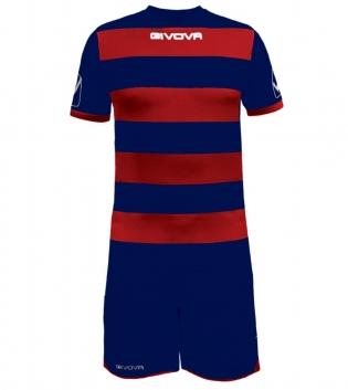 Kit Rugby Calcio Sport GIVOVA Abbigliamento Sportivo Uomo Calcistico GIOSAL-Blu-Rosso-M