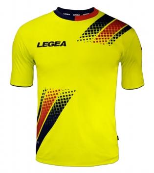 Maglia Uomo Calcio Sport LEGEA Salamanca Abbigliamento Sportivo Uomo Bambino GIOSAL-Blu-Rosso-S