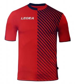 Maglia Uomo Sport LEGEA Calcio Braga Abbigliamento Sportivo Calcistico Uomo Bambino GIOSAL-Blu-Rosso-S