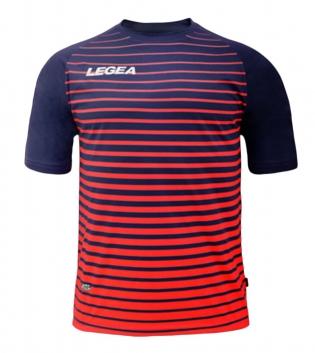 Maglia Calcio Sport LEGEA Strasburgo Abbigliamento Calcistico Sportivo GIOSAL-Blu-Rosso-S