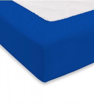 Lenzuolo Sotto Maestri Cotonieri Con Angoli Cotone Matrimoniale 180x200cm Vari Colori GIOSAL-Blu Royal