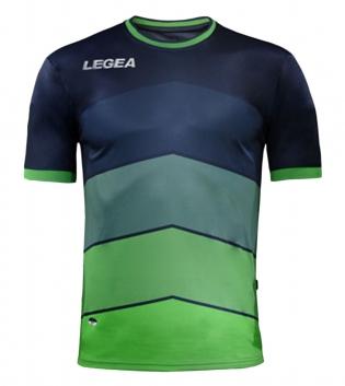 Maglia LEGEA Calcio Sport Assen Abbigliamento Sportivo Calcistico GIOSAL-Blu-VerdeFluo-L