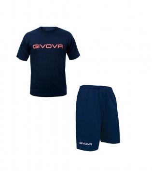 Completo Outfit Tuta GIVOVA Blu Bermuda Friend T-Shirt Spot Uomo Donna Bambino GIOSAL