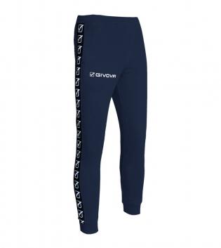 Pantalone Uomo Sport Tuta Tricot Band Uomo Donna Bambino Abbigliamento Sportivo GIOSAL-Blu-S
