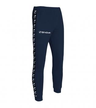 Pantalone Tuta Sport GIVOVA Terry Band Abbigliamento Sportivo Comfort GIOSAL-Blu-XS