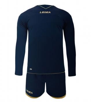 Kit LEGEA Danzica Uomo Calcio Sport Completino Sportivo Calcetto Squadra Uomo Bambino GIOSAL-Blu-XL