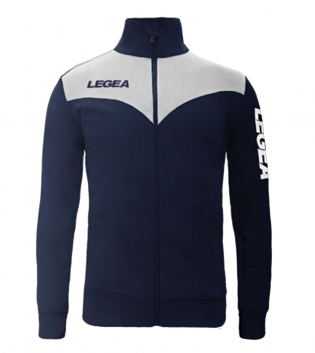 Felpa LEGEA Peru Full Zip Abbigliamento Sportivo Uomo Bambino GIOSAL-Blu-Bianco-3XS