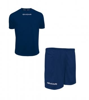 Outfit Givova Completo Pantaloncini Unisex T-Shirt Givova One Blu Uomo Donna Bambino GIOSAL