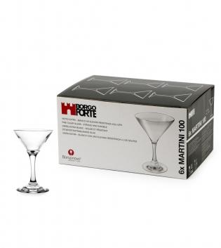 Set di Bicchieri Coppette Martini 10cl 15cl 25cl 6 Pezzi Cocktail Vetro Trasparente Borgonovo GIOSAL