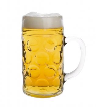 Boccale Birra Don 1LT Bicchiere Vetro con Manico Borgonovo GIOSAL