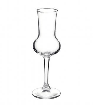 Set di Bicchieri Calice Riserva 6 Pezzi Grappa 8cl Vetro Trasparente Bormioli Rocco GIOSAL