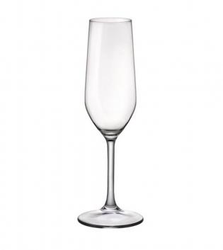 Set di Bicchieri Calice Riserva 6 Pezzi Champagne 20,5cl Vetro Trasparente Bormioli Rocco GIOSAL