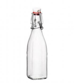 Bottiglia Swing Quadrata Acqua 25cl 50cl 100cl Vetro Tappo Chiusura Ermetica Bormioli Rocco GIOSAL
