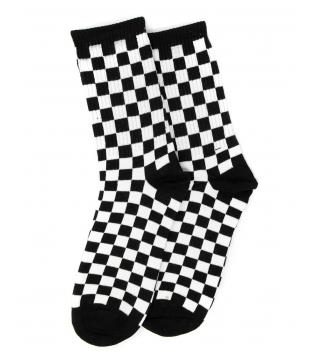 Calzini Unisex Bicolore Quadretti Bianco Nero Taglia Unica Casual Socks GIOSAL