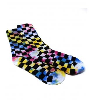 Calzini Unisex Multicolore Quadretti Caviglia Socks Casual Taglia Unica GIOSAL