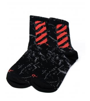 Calzii Unisex Calze Socks Casual Neri Sfumato Rosso Caviglia GIOSAL