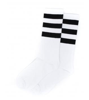 Calzini Unisex Calze Socks Bianchi Riga Nera Caviglia Casual Basic GIOSAL