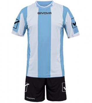 Kit Uomo Calcio Completino Sport Catalano Sportivo GIVOVA Uomo GIOSAL-Celeste-Bianco-M