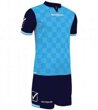 Kit Uomo Completo Sport Calcio GIVOVA Competition Sportivo Uomo GIOSAL-Celeste-Blu-M