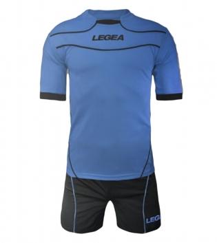 Kit Calcio LEGEA Modello Tuono Brasilia Completi Calcio SPORT GIOSAL-Celeste/GrigioScuro-XS